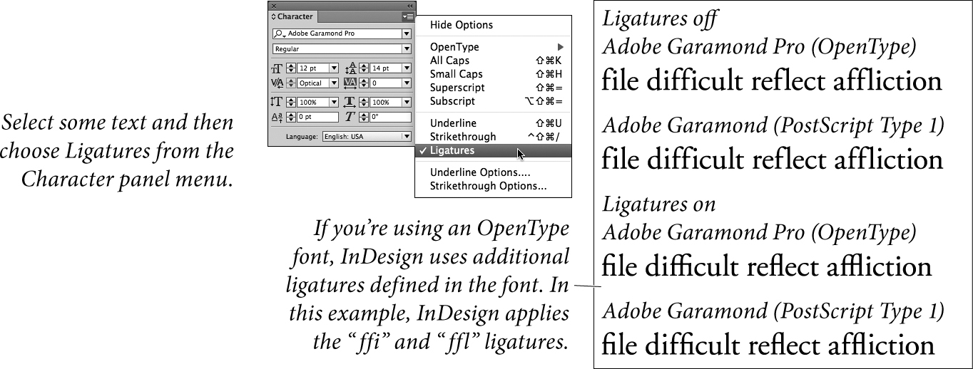 Character Formatting | Working with Type in Adobe InDesign CC | Peachpit