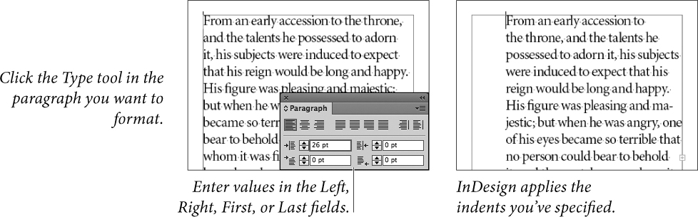 Paragraph Formatting Working With Type In Adobe Indesign Cc Peachpit