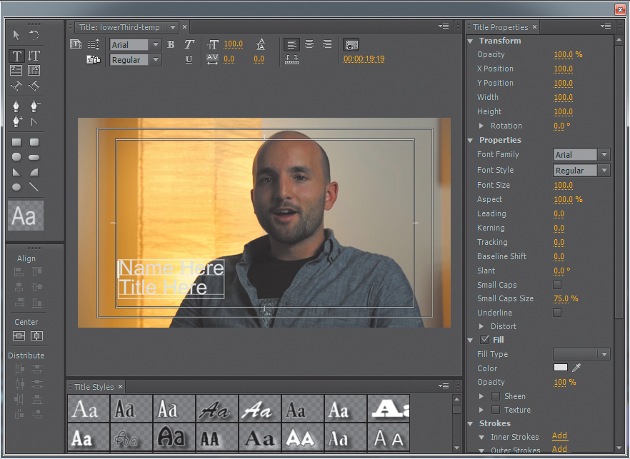 Adding titles with the adobe premiere pro title tool advanced adding titles with the adobe premiere pro title tool advanced digital video editing techniques with adobe creative cloud ccuart Image collections