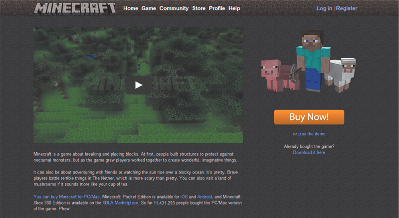 minecraft for pc full version buy