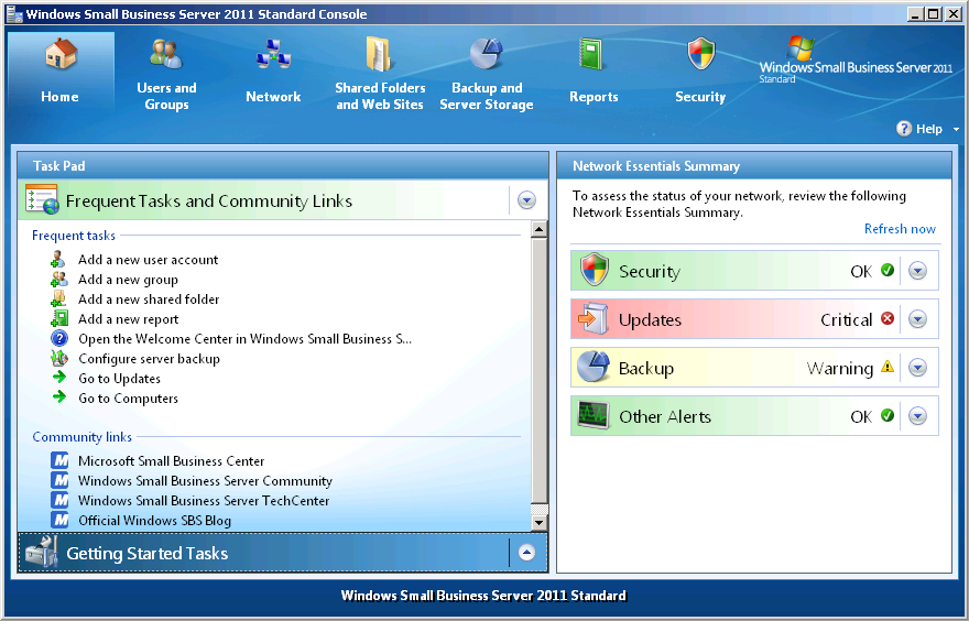 Getting Started with Windows Small Business Server 2011
