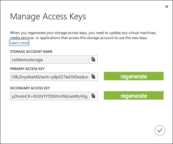 Figure 4 6 Manage Access Keys Dialog Box For A Storage Account