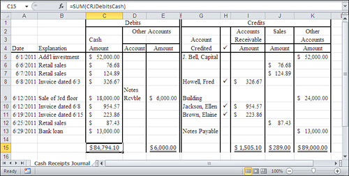 understanding ledgers summarizing business transactions in excel