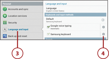 Changing Keyboard and Voice Settings | Customizing Android 4 on Your