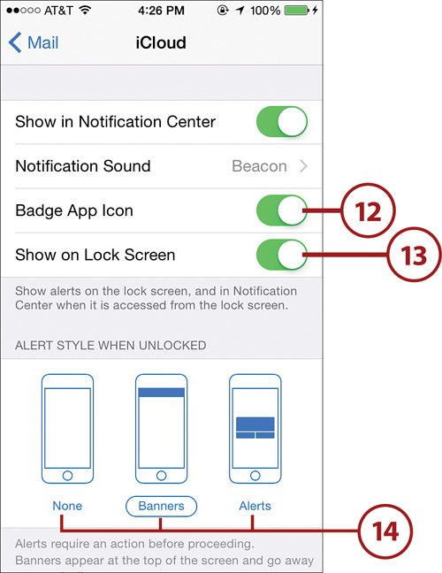 Setting Up Notifications And The Notification Center Configuring