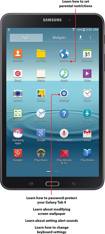 how to change password on samsung tab 4