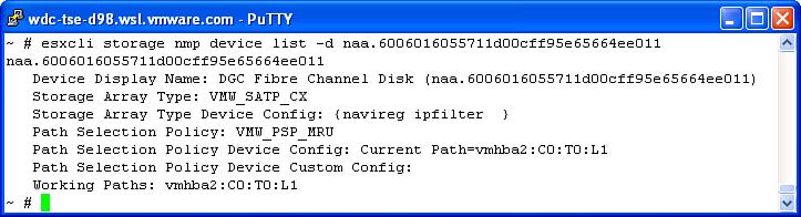 Modifying PSA Plug-ins Using the CLI | vSphere Pluggable