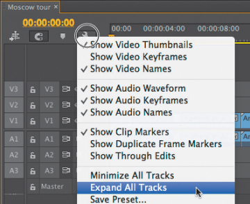 Working with the Timeline in Adobe Premiere Pro CC