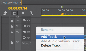 Adding and Deleting Tracks | Working with the Timeline in Adobe