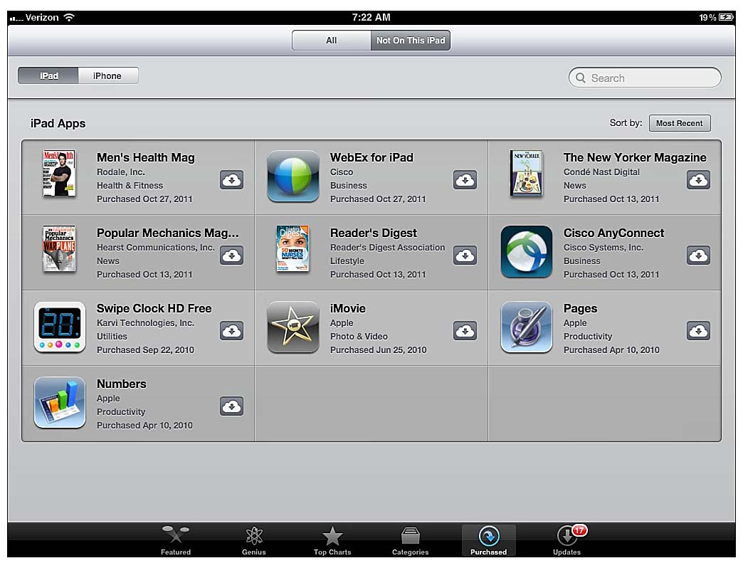 Using icloud to download itunes store purchases on an ios device using icloud with your itunes music apps and books informit