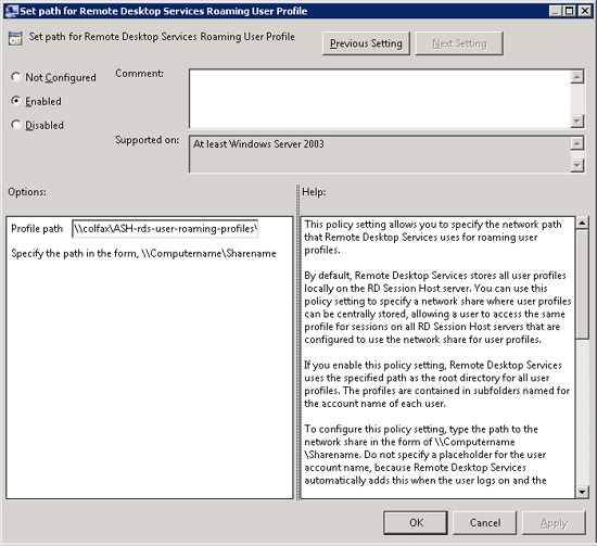 Managing User Data in a Windows Server 2008 R2 Remote