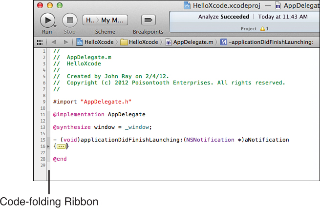Using the Xcode Source Editor | Understanding Editor Basics