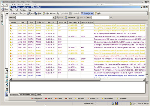 Configuring Event and Session Logging > CCNP Security