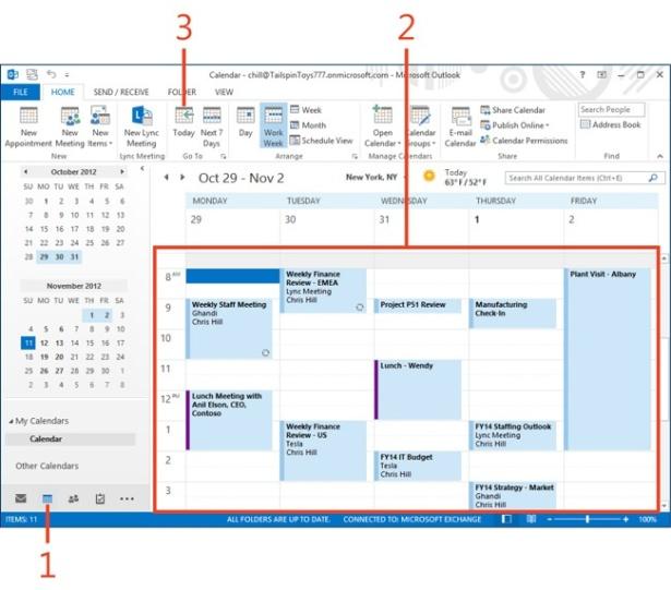 managing a calendar in microsoft outlook 2013 microsoft press store