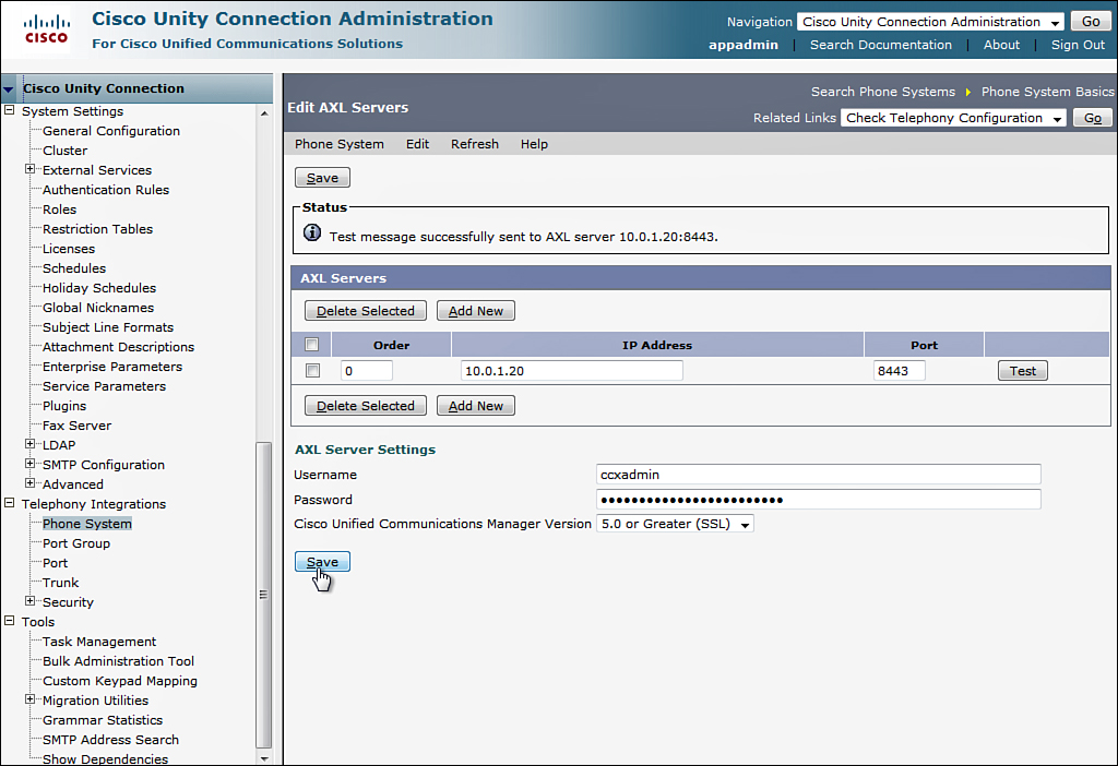 Managing Users in Cisco Unity Connection > CCNA Voice Portable