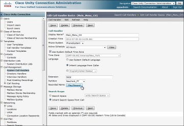 Configuring Call Handlers in Cisco Unity Connection > CCNA Voice