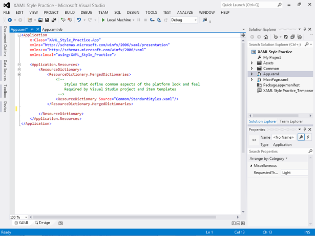 Microsoft Visual Basic 2013 Step by Step: Using XAML Styles