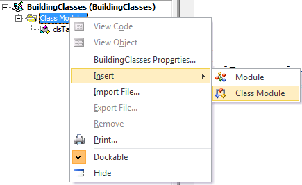Adding Functionality with Classes in Microsoft VBA