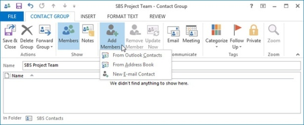 Managing Contact Records in Microsoft Outlook 2013 | Microsoft Press