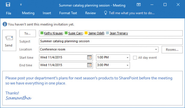 Manage Scheduling in Microsoft Outlook 2016 Microsoft Press Store