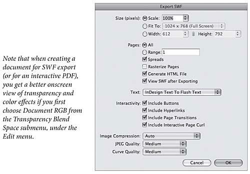 SWF Export | Real World Adobe InDesign CS4: Interactive