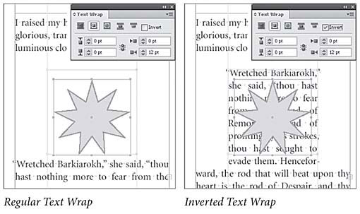 Real world adobe indesign cs4 text wrap text wrap peachpit indesign can apply an inverted text wrap to an object which causes text to wrap to the inside of the text wrap see publicscrutiny Choice Image