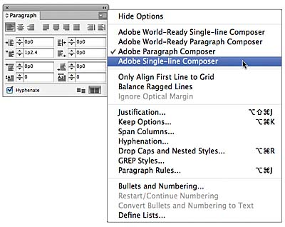 Working with paragraph composers and tabs in adobe indesign cs6 figure 7 1 ccuart Choice Image