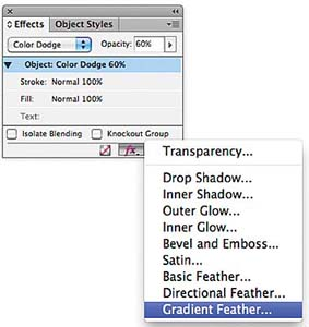 Applying a gradient feather > Transparency: Working with