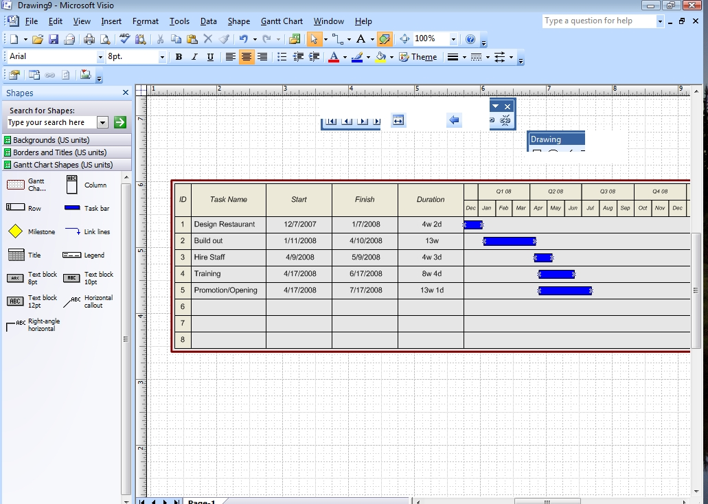 Project management with visio 2007 gantt and pert charts microsoft project management with visio 2007 gantt and pert charts microsoft office reference guide informit ccuart Images