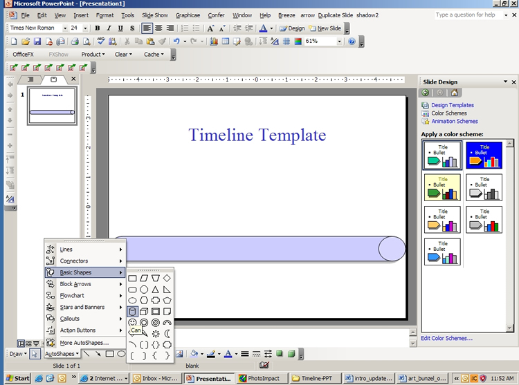Creating a timeline template in powerpoint microsoft office creating a timeline template in powerpoint microsoft office reference guide informit toneelgroepblik Choice Image