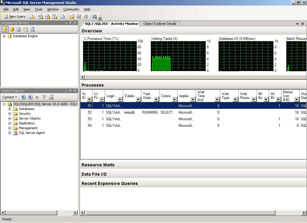 monitoring sql server activity monitor sql server reference guide