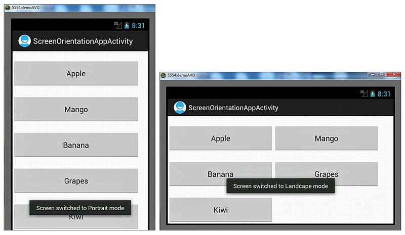 Adapting To Screen Orientation Android Programming Unleashed Laying Controls In Containers Informit