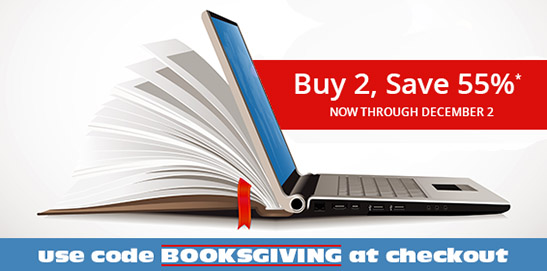 Buy 2, save 55% on books and eBooks in the Booksgiving Sale from Cisco Press