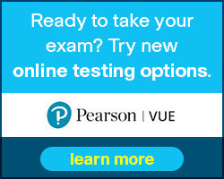 Try new online testing options from Pearson VUE