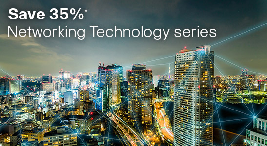 Save 35% on Networking Technology series books and eBooks with discount code NETWORK, now through March 28