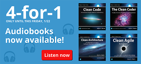 4 for 1: Clean Code audiobooks available now at cleancodeaudio.com