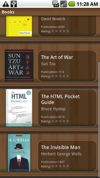 Aldiko bookshelf on Android