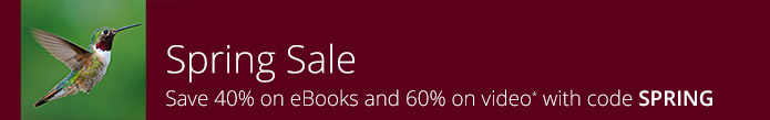 Save 40%-60% in the Spring Sale from Pearson IT Certification