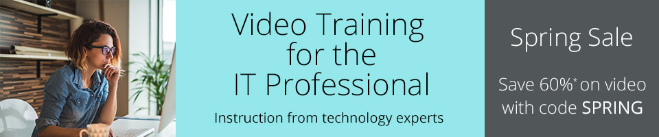 Save 60% on full-course video training in the Spring Sale from InformIT