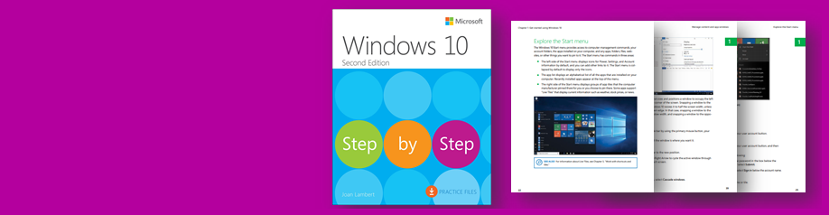 Read a sample chapter from Windows 10 Step by Step