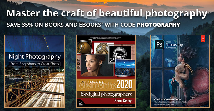 Save 35% on photography books and eBooks with discount code PHOTOGRAPHY