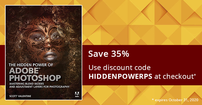 Save 35% on the print or eBook edition of The Hidden Power of Adobe Photoshop