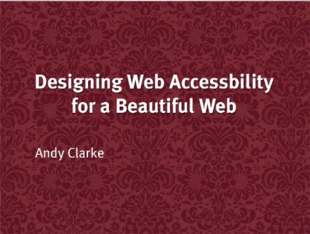 Designing Web Accessibility for a Beautiful Web