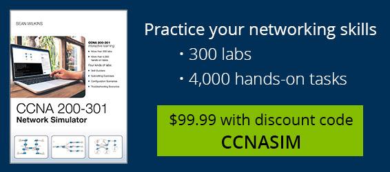 CCNA 200-301 Simulator: $99.99 with discount code CCNASIM