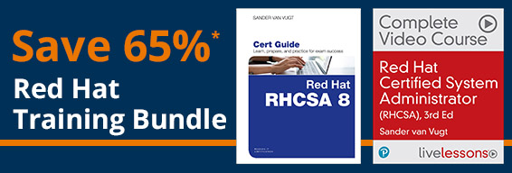Save 65%* with the Red Hat Bundle from Pearson IT Certification