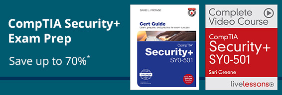 Save 40-70%* on CompTIA Security+ learning resources from Pearson IT Certification