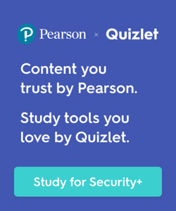 Prepare for CompTIA Security+ Certification with Pearson and Quizlet