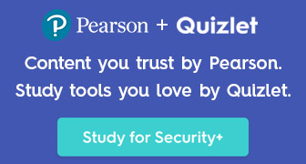 Content you trust by Pearson. Study tools you love by Quizlet. Study for Security+